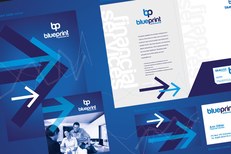 Blueprint South West - Website, Marketing and branding for national financial advice company